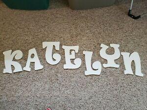 White Lettering for wall - spells Katelyn