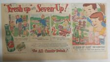 7-Up Ad: Fresh Up With Seven-Up! Summer Fun ! from 1940's  7.5 x 15 inches