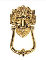Carisle Brass Old English Lion Head Door Knocker