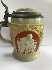 New listing Mettlach, Villaroy/Boch German Beer Stein, W Star of David-Excellent-1890's Rare