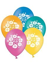"Hibiscus Tropical - Love - 12"" Printed Latex Balloons Asst 20 ct By Party Decor"