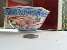 Eggshell porcelein cup in box  handpainted