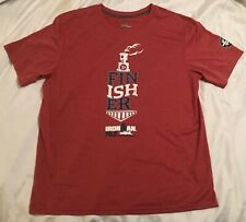 Ironman Finisher 70.3 Chattanooga Red L T-Shirt Distressed Logo 2018 Men's VGUC