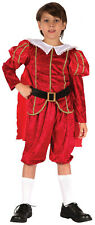 Childrens Tudor Prince Costume Medieval Book Week Fancy Dress Outfit 3-10 Yrs