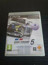 Gran Turismo 5 Academy Edition Playstation PS3 Manual De Video Juego De Carreras PAL
