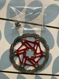 HOPE RED DISC ROTOR 6 BOLT 180MM VERY GOOD CONDITION WITH BOLTS