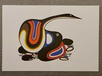 "Vintage Native Art Lithograph by Jackson Beardy 1975 ""PROTECTION"" 9"" X 6"""