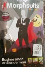 Adult BUSINESS MAN SLENDERMAN Morph Original Morphsuits party costume XL size