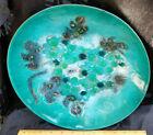 "Vintage Mid-Century Modern  Enamel On Copper Bowl By Sascha Brartoff 12"""