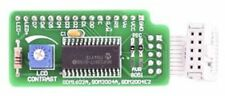 Serial LCD Adapter Board for 2x16/4x20, MCP23S17, 5V, SPI, IDC10