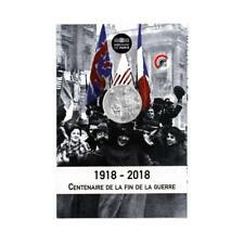 FRANCE 10 Euros Argent Blister Centenaire de l'Armistice 2018 UNC Silver coin