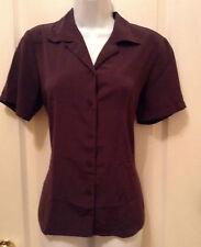 Elementz Small Brown Shirt Blouse Top