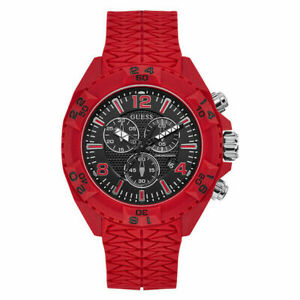 Guess W1271G3 Thor Mens Oversized Red Silicone Watch