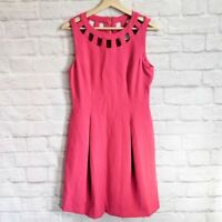 NWT Eliza J Cutout Bi-stretch Flare Dress in Pink - Size 6
