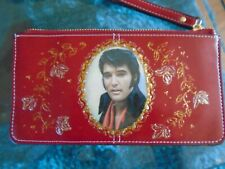 """NEW  RED """" ELVIS PRESLEY""""   PICTURE PURSE/WALLET/ IPHONE PLUS WITH WRIST STRAP"""