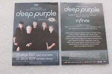Deep Purple - The Long Goodbye Tour - Polish promo FLYER