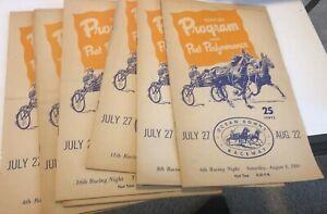 Six copies of a 1959 Horse Racing Program, Ocean Downs Raceway