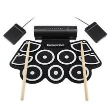 Silicone Electronic Drum Pad Kit Portable USB MIDI Roll-up with Built-in Speaker