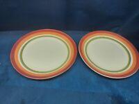 Vintage Royal Norfolk Multicolored Set/2 Dinner Plates Very Nice!