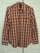 Mens GAP Long Sleeve Relaxed Fit Brown Check Shirt Size: M