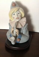 Lladro Figurine Sad Note #5586 Clown With Saxophone Base Mint Condition