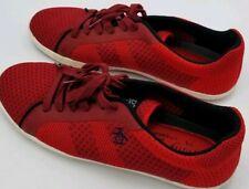 Original Penguin Owen Mens Red SIZE 11 Textile Low Top Lace Up Sneakers Shoes