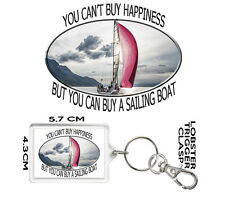 SAILING KEYRING You Can't Buy Happiness But You Can Buy A SAILING BOAT MONTAINS