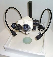 AMG Fisher Stereozoom Microscope and LED Lower/Upper Illumination 6-60X New
