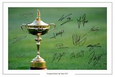 L'Europe 2012 Ryder Cup Team signé autographe photo print