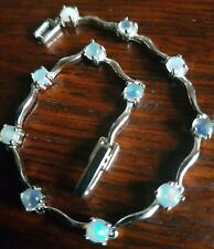 Opal Bracelet V Pretty solid hallmkd 925 serpentine links beautiful