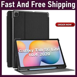 Galaxy Tab S6 Lite 10.4 Case 2020 With S Pen Holder, Slim Stand Protective Folio