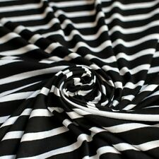 694af518f31 Black & White Stripe Single Jersey Knit Fabric With Stretch - by The Metre