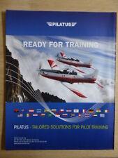 10/2012 PUB PILATUS PC-21 TRAINER SWISS AIRCRAFT ALPES ORIGINAL FLUGZEUG AD