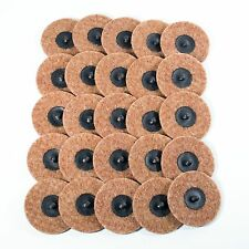 """25pc - 3"""" Coarse Brown Roloc Quick Change Surface Conditioning Prep Sanding Disc"""