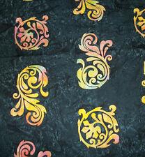 Rainbow Batik Scrollwork~~Tonga ~Six Weeks in Bali  18 X 21    Z2