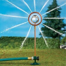 Solar Powered Lighted Glass Gazing Ball Garden Yard Lawn Water Sprinkler Pipe