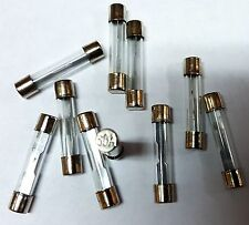 AGC 30 AMP GLASS TYPE FUSES 10Pcs