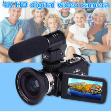 "4K WiFi Ultra HD 1080P 3"" Digital Video Camera Camcorder DV with Lens+Microphone"