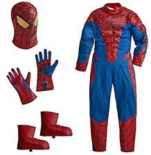 Disney NWT Spiderman size 10 Costume Jumpsuit mask+gloves+boots/shoes  2012
