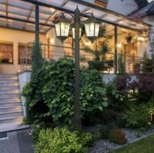 More details for sterno home 3-head streetlight for garden/drive outdoor feature lighting