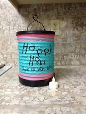 NEW Battery Operated Tea Light Lantern Happy Hour 5pm to last call-home decor