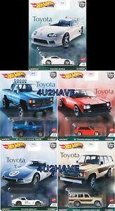 Hot Wheels 2021 Car Culture TOYOTA set of 5 CASE H SUPRA PICKUP TRUCK PRE-ORDER