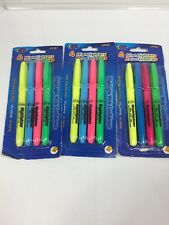 (3) Eclips Highlighters Yellow Pink Blue Green 4pk 12 Total 49481