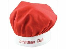 CHRISTMAS CHEF HAT SANTA FATHER XMAS COOK ADULT UNISEX DRESS PARTY ACCESSORY