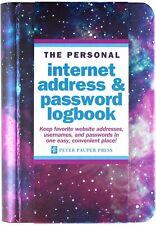 Password Book Galaxy Internet Website Username Keeper Spiral Bound Logbook