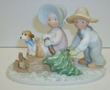 1989 Homco Christmas Masterpiece Circl Friends Figurine - The Perfect Tree