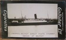 Belfast Liverpool Ferry Ship SS HEROIC GALLAHER IRISH VIEWS 400 Northern Ireland