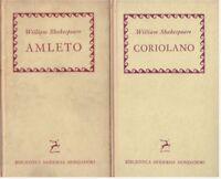 (Shakespeare) Coroliano + Amleto 1958 Mondadori 2 vol.