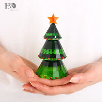 Christmas Tree Crystal Glass Figurines Paperweight Ornament Kids Gift Home Decor