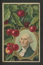 Patriotic Vintage postcard George Washington Birthday gold trim embossed